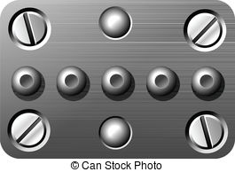 Clipart Vector of screws and rivets, abstract vector art.
