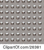 Clipart Illustration of a Background Of A Grunge Metal Plate With.