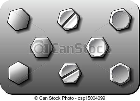 EPS Vectors of Bolts screws rivets vector csp15004099.