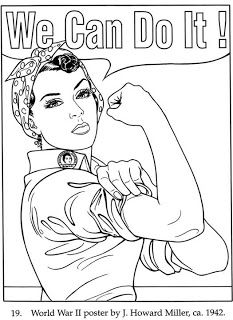 Rosie the riveter clipart.