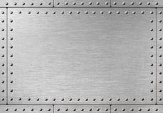 Steel Metal Armor Background With Rivets Stock Photo.