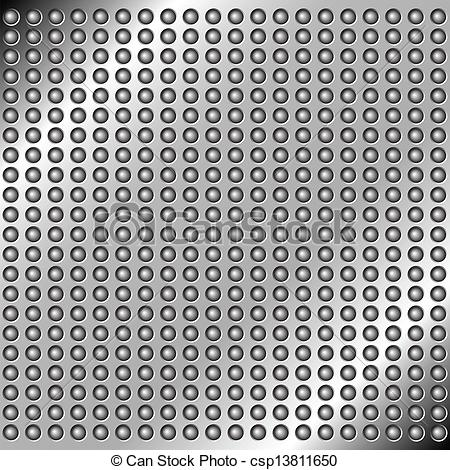 Clipart Vector of metal background with rivets.