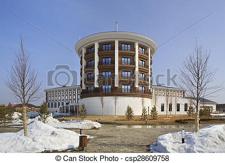 Stock Images of Hotel Rixos Borovoe in National Park Burabay.