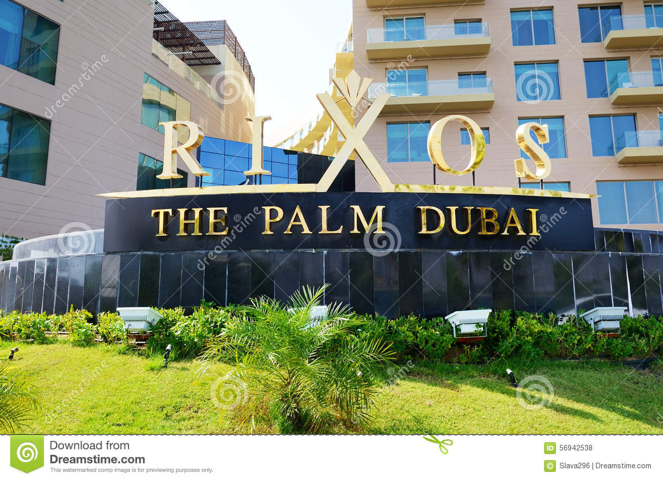 The Entrance Of Rixos The Palm Dubai Luxury Hotel Editorial Stock.