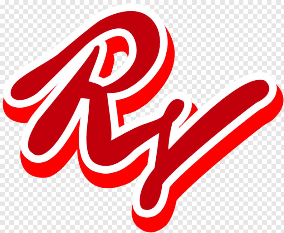 Red and white Rj logo, Red Velvet Ice Cream Cake The Red.