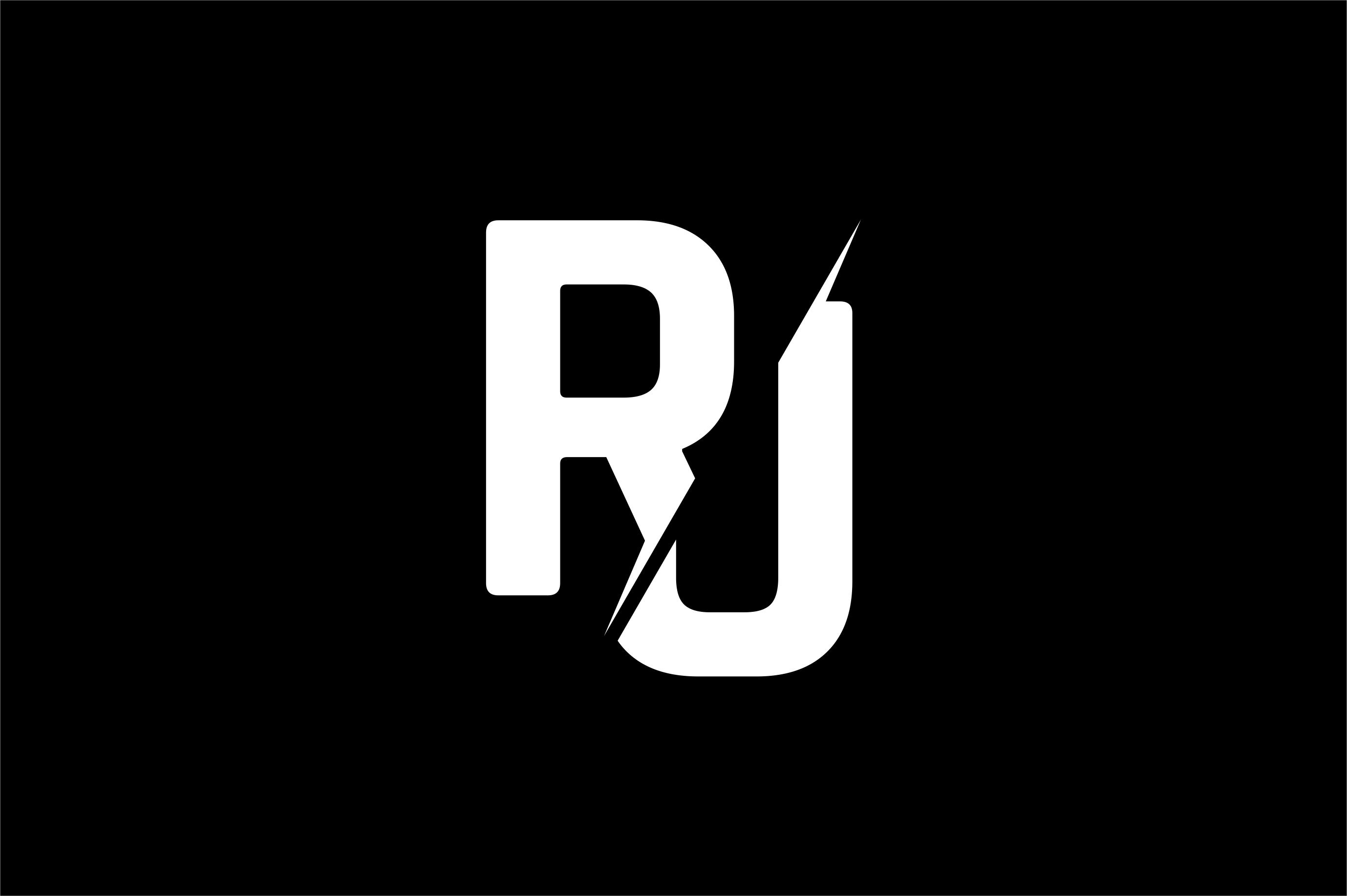Monogram RJ Logo Design.