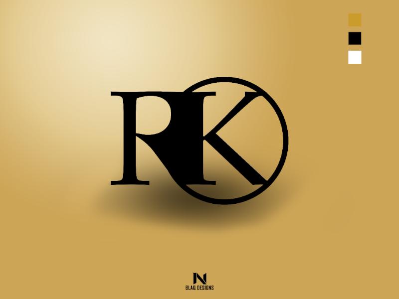 RK Logo Design by Chillee Noir on Dribbble.