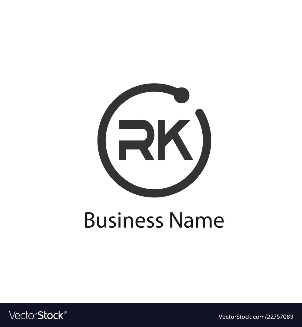 Initial letter rk logo template design.