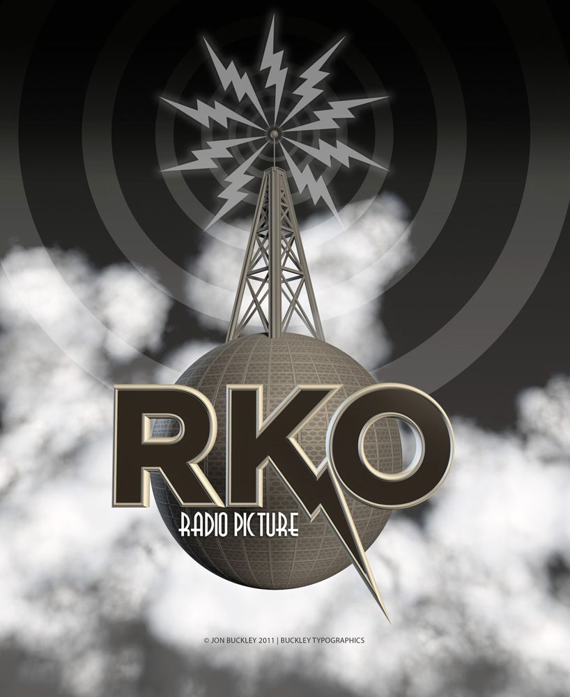 I love this take on the RKO logo by BuckleyTypographics.