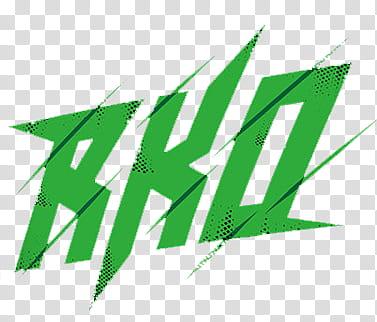 Randy Orton RKO Green Logo transparent background PNG.