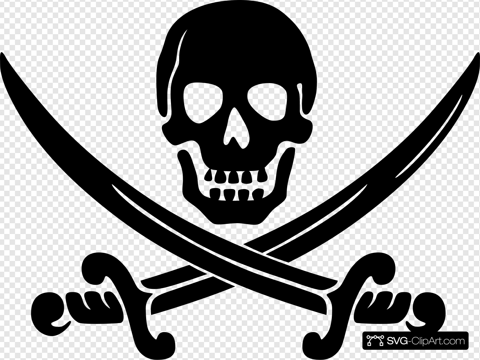Clue Calico Jack Pirate Logo Clip art, Icon and SVG.