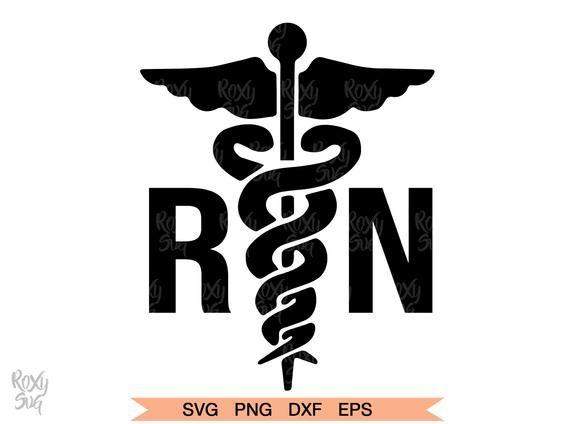 RN SVG, Registered Nurse Logo for Silhouette Cricut.