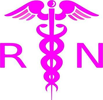 Amazon.com: WickedGoodz Pink White Caduceus Nurse Vinyl.