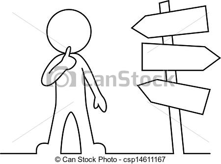 Clip Art Vector of People is standing in front of a ro.