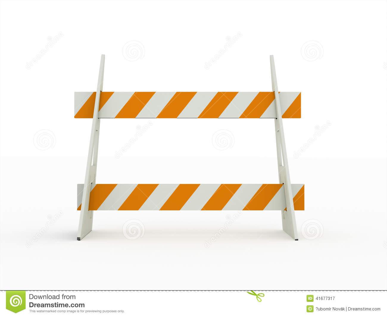 Construction road block clipart no background.