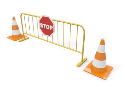 Roadblock 20clipart.