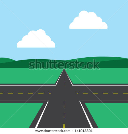 Road Intersection Stock Images, Royalty.