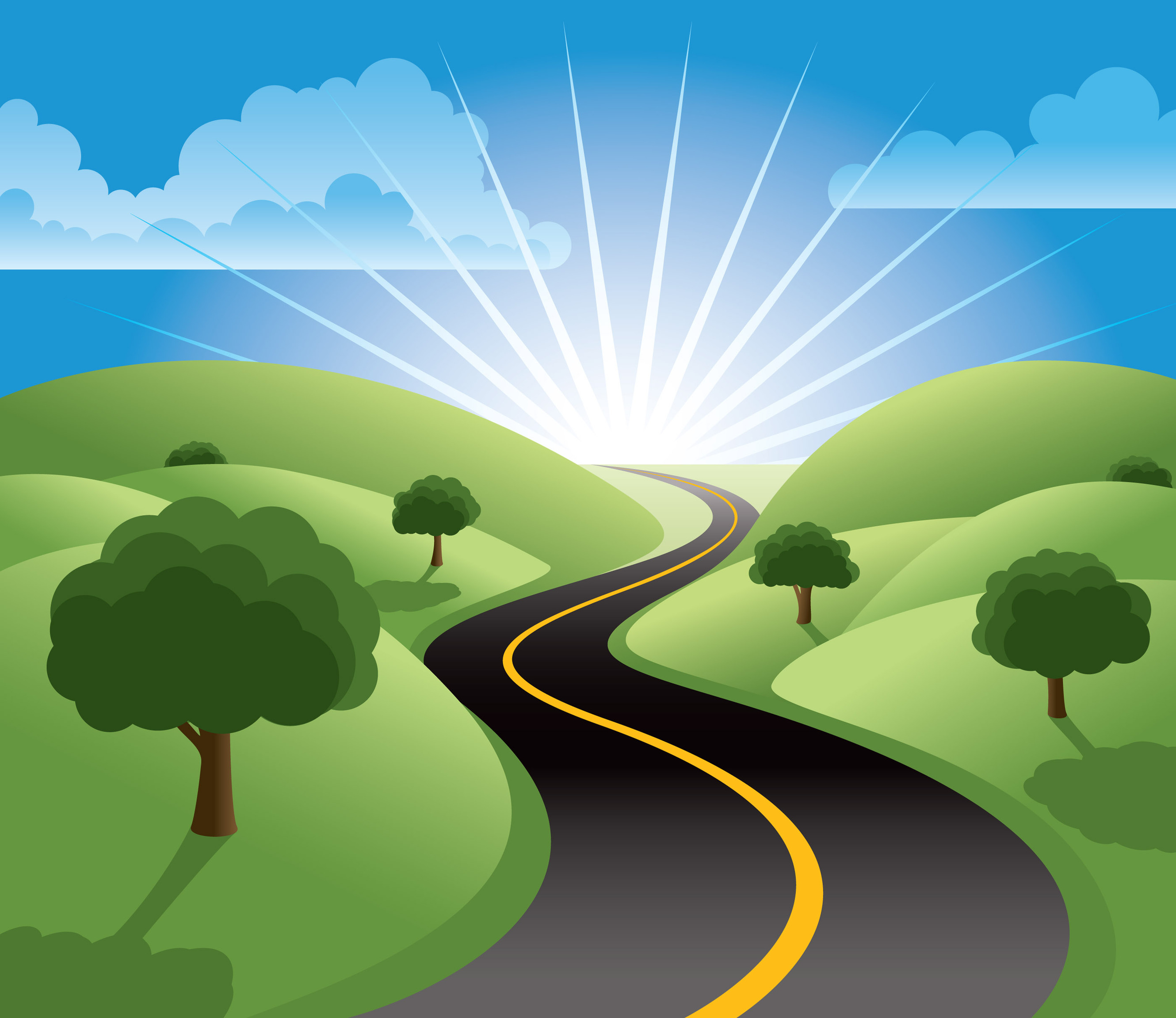 Road Backgrounds Clipart.