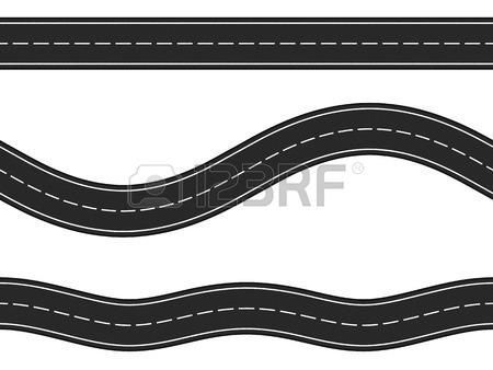 A Straight Road Clip Art.