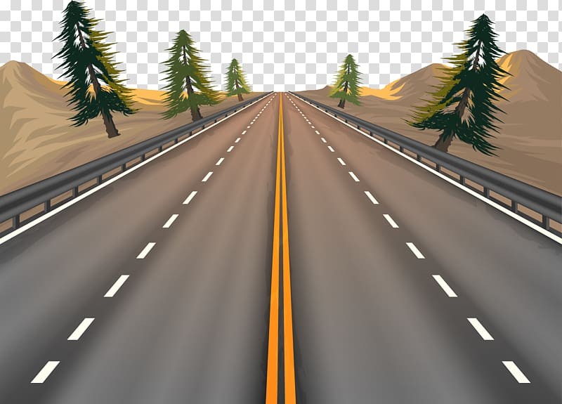 Road and trees illustration, Euclidean Road, road.