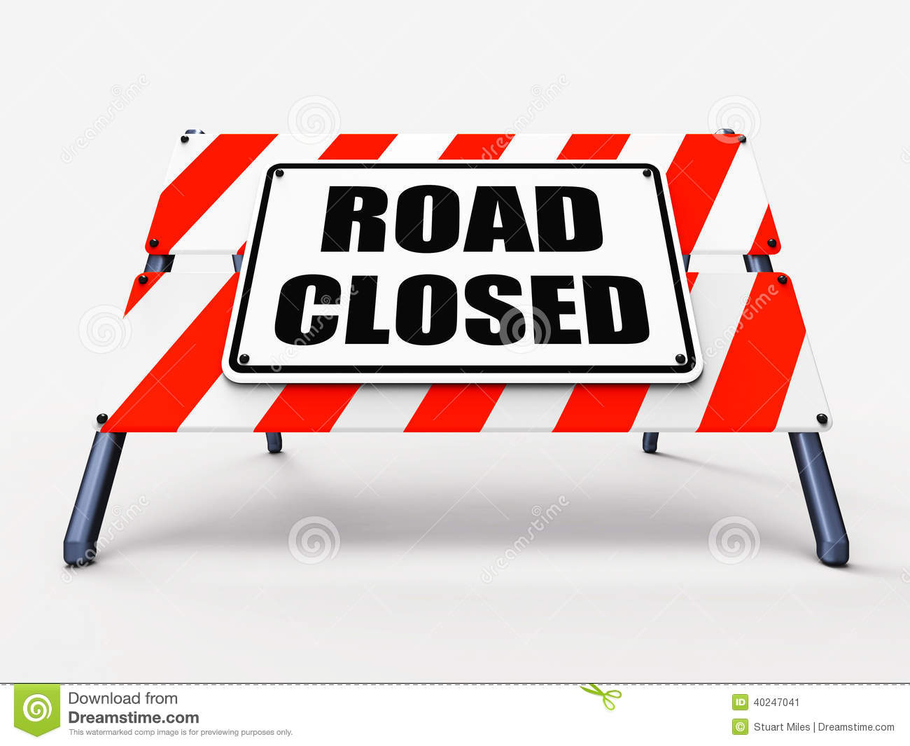 Road Closed Sign Stock Illustrations.