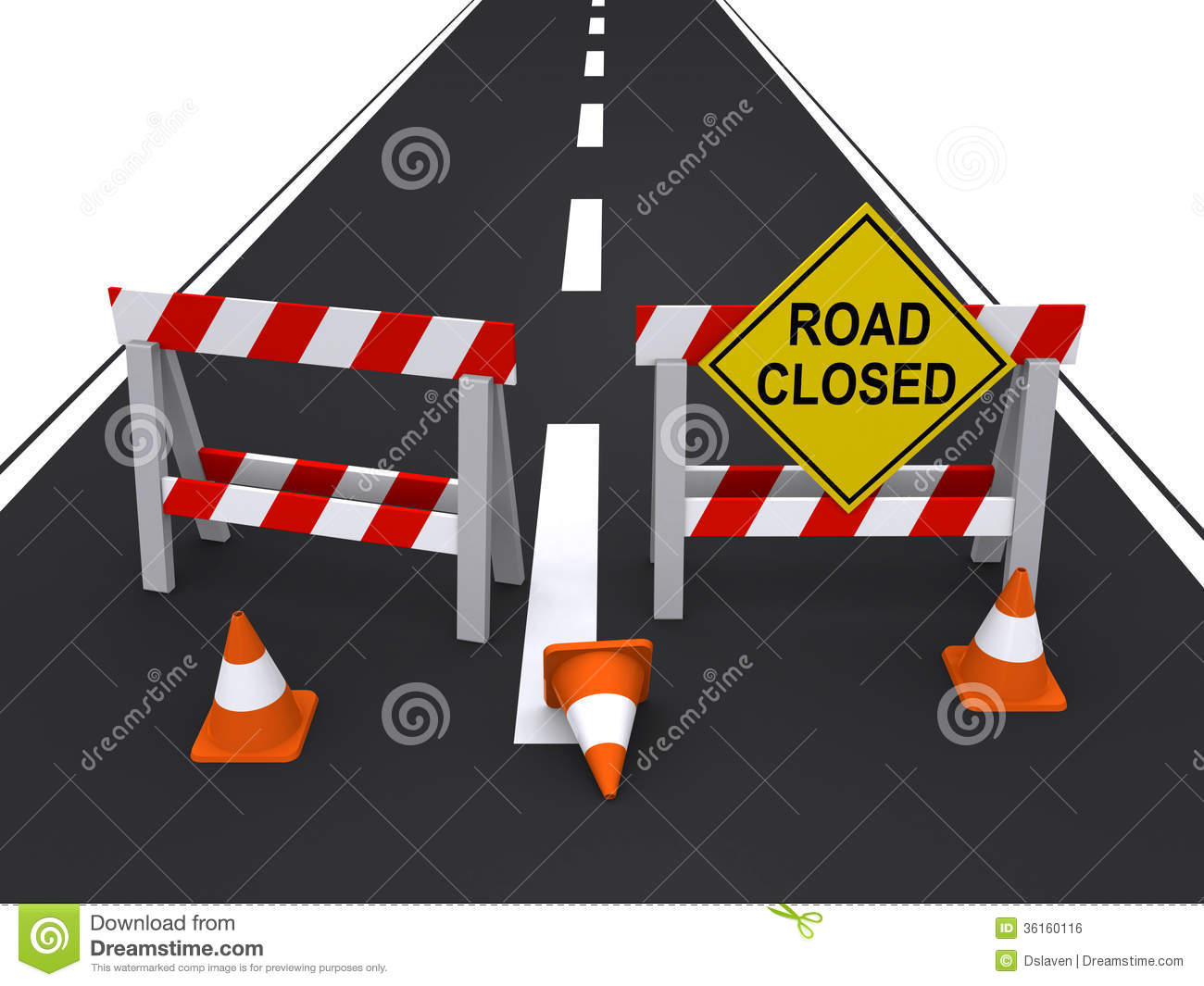 Road Closed Royalty Free Stock Image.