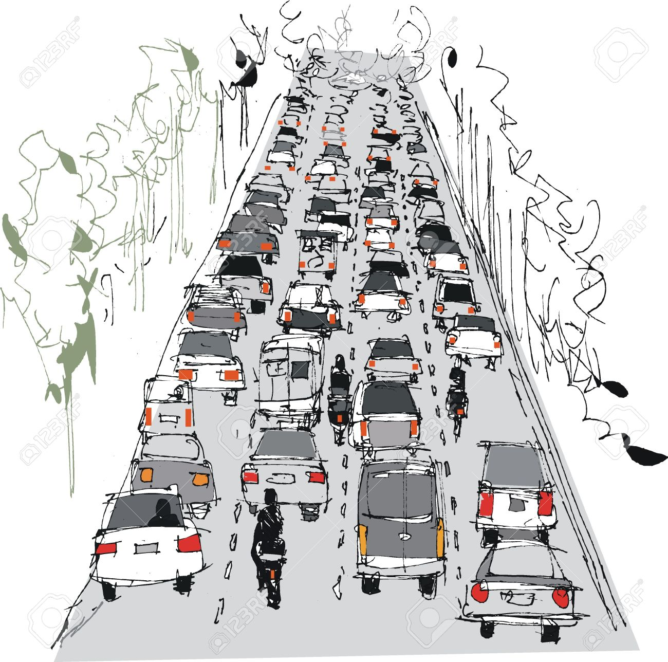 302 Highway Congestion Stock Vector Illustration And Royalty Free.