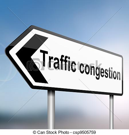 Stock Photographs of Traffic congestion concept..