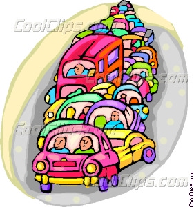 traffic congestion Vector Clip art.