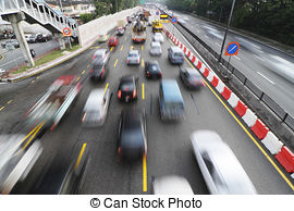 Stock Photography of Traffic congestion.