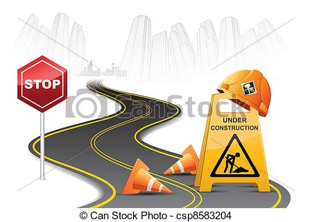 free road construction clipart #15