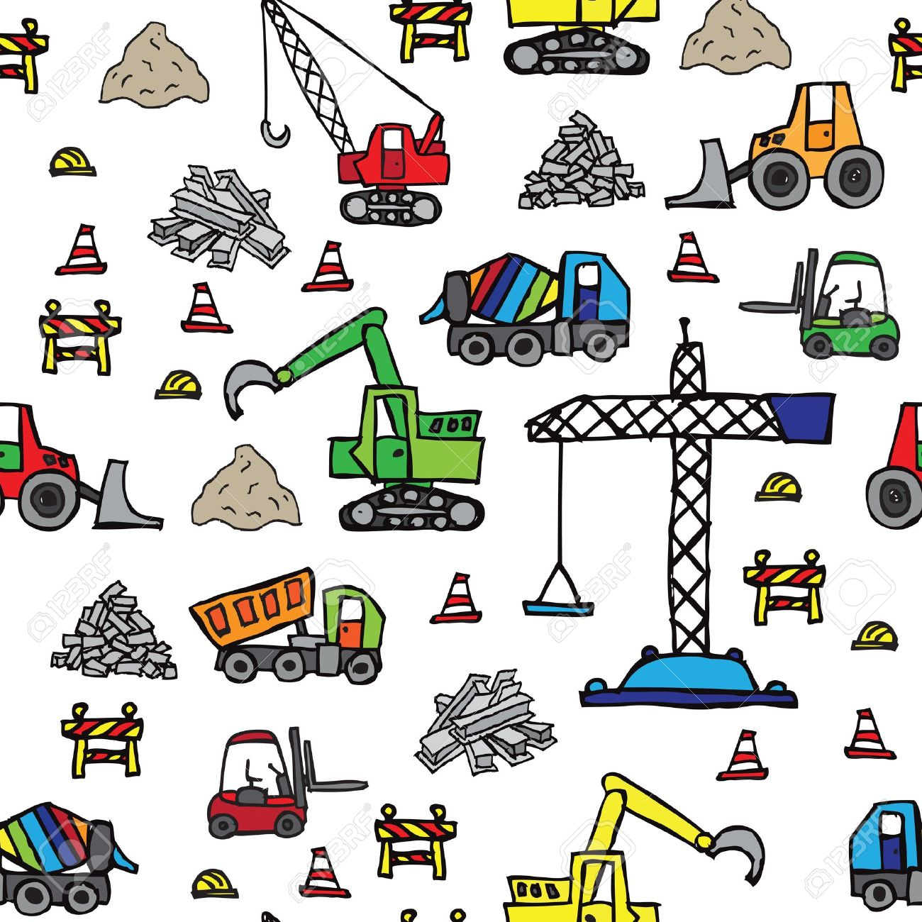 road construction site clipart