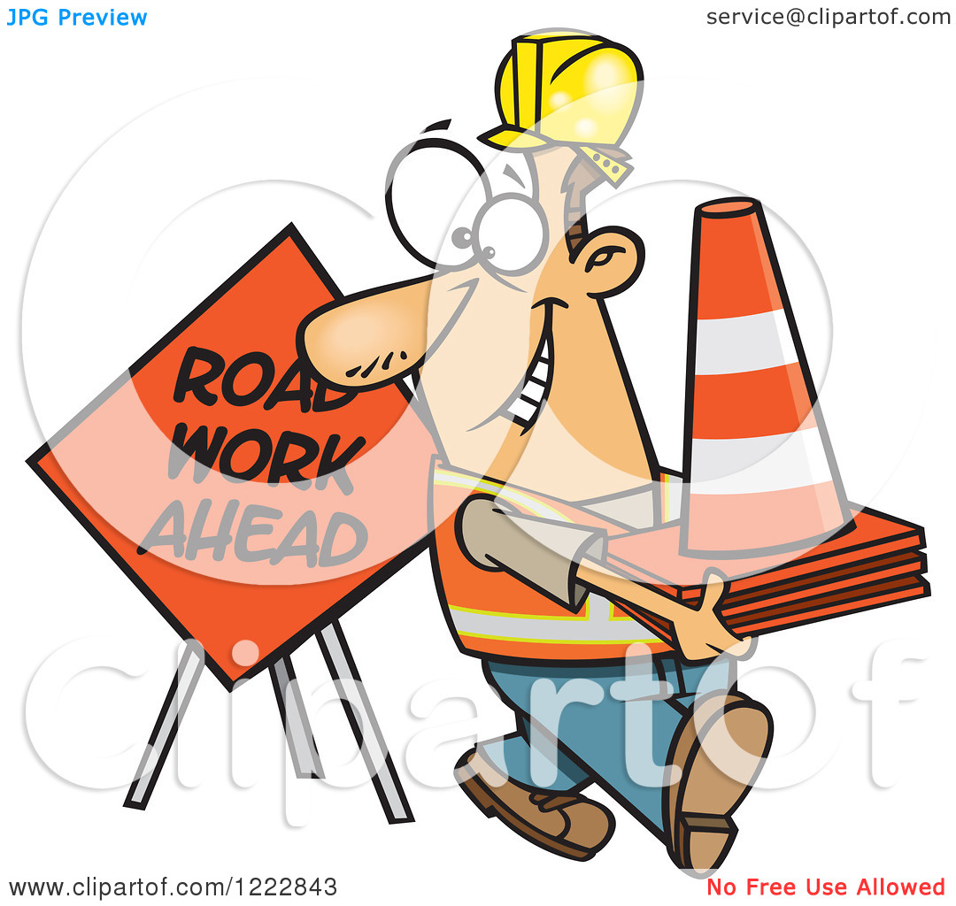 Road Construction Workers Clipart Free.
