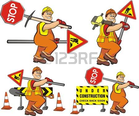 4,139 Road Construction Worker Stock Illustrations, Cliparts And.