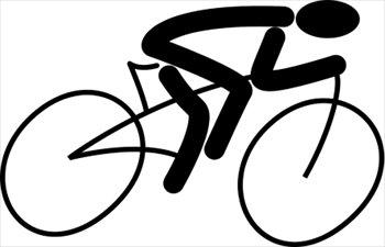 Biking cliparts.