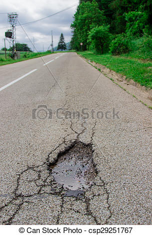 Clipart road being damage.