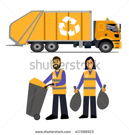 Garbage Man Stock Images, Royalty.