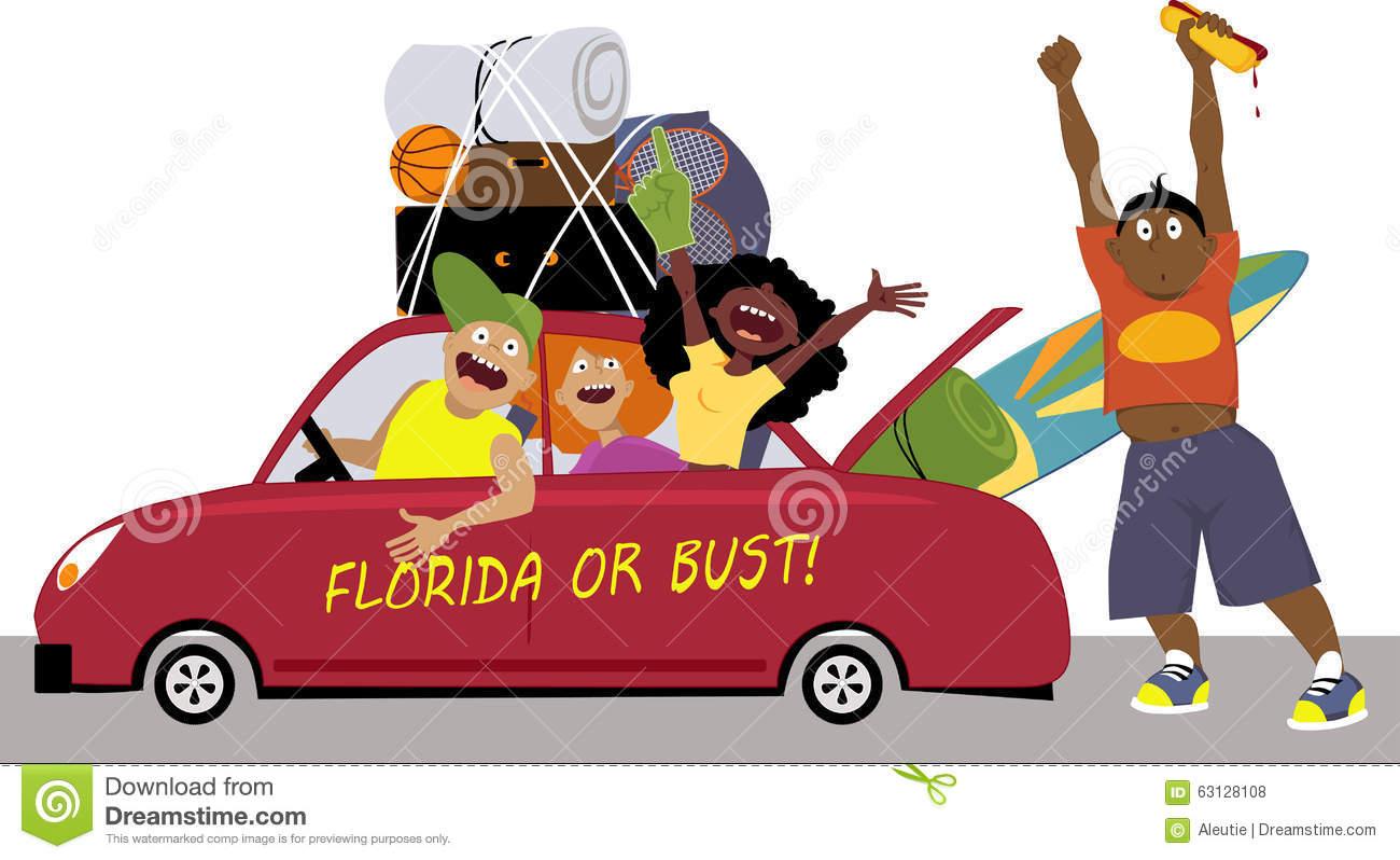 Florida Road Trip Stock Illustrations.