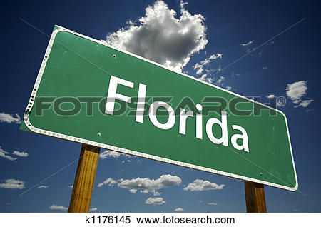 Stock Image of Florida Road Sign k1176145.
