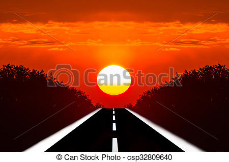Road Into Sunset Clipart 20 Free Cliparts Download