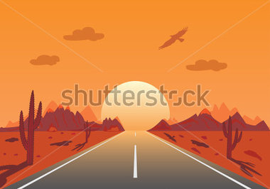 Road To Sunset Clipart Png.