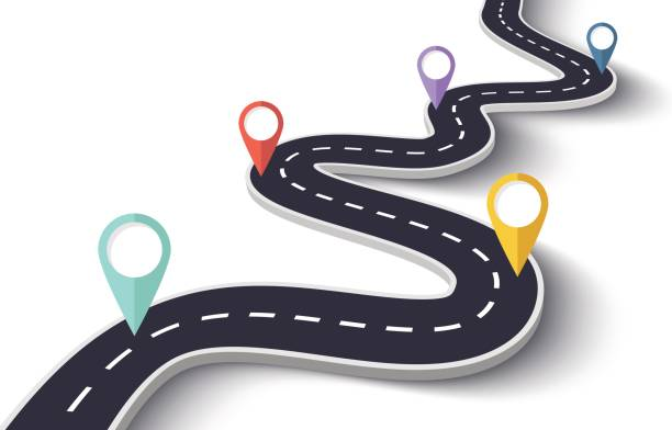 75 Well Marked Road Map Clip Art Images.