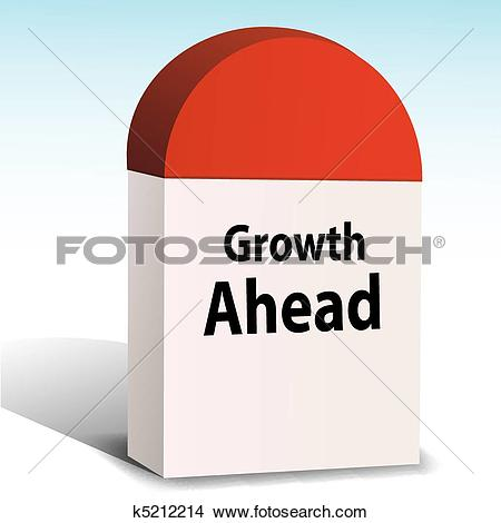 Clip Art of way with mile stone k5225869.