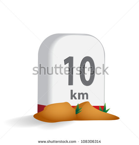 Road Milestone Stock Images, Royalty.