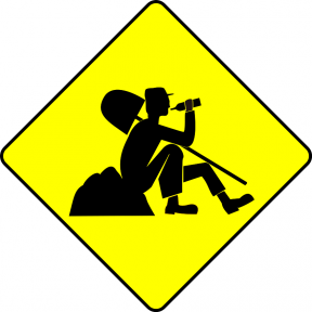 Road Narrows On Both Sides Clip Art.