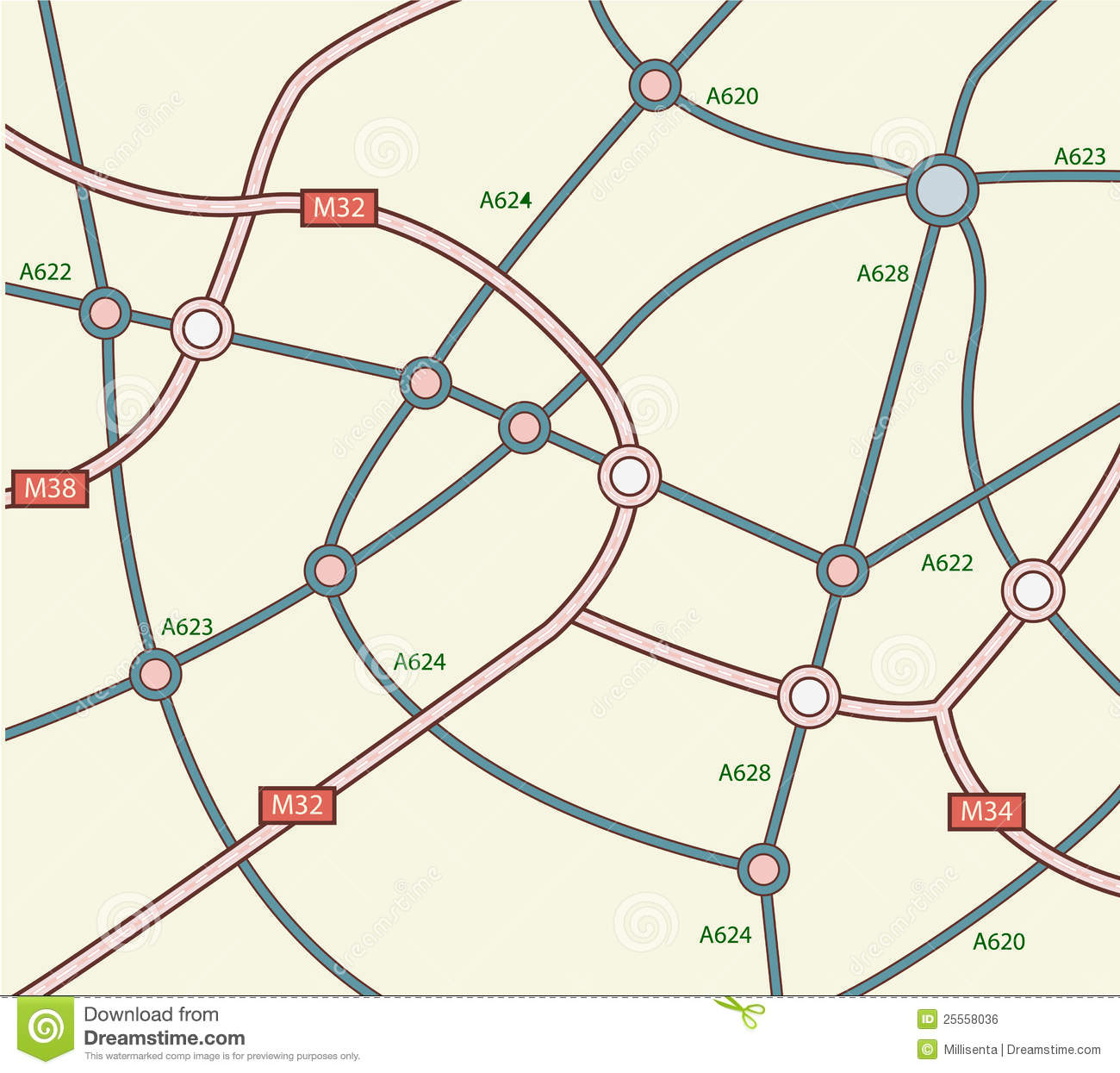 Road network clipart.