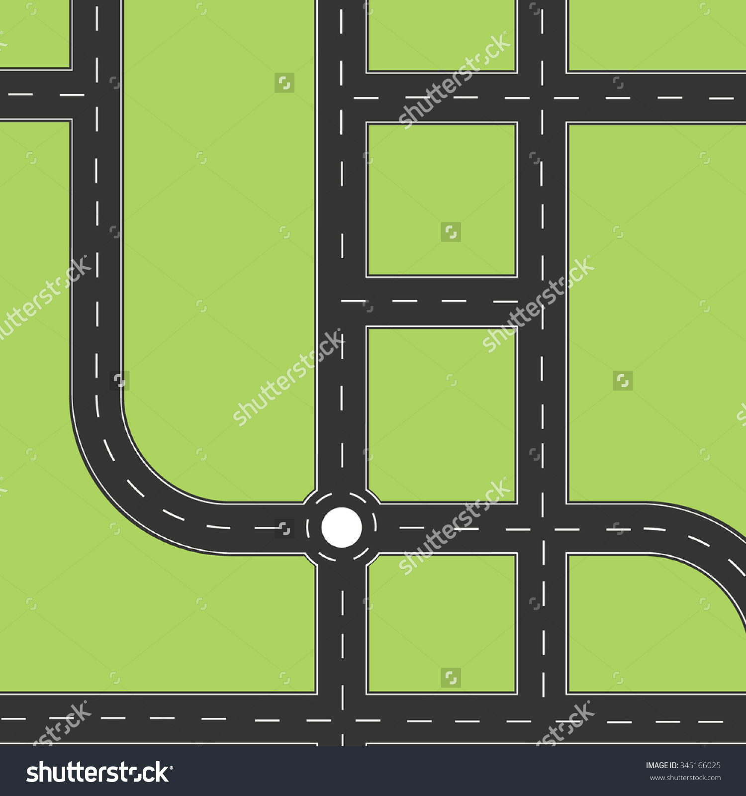 Top View Road Clipart.