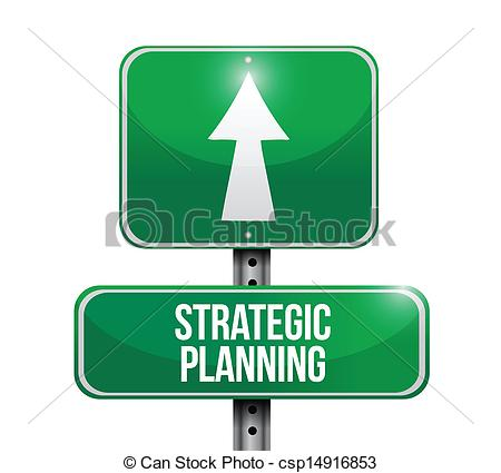 Clipart Vector of strategic planning road sign illustration design.