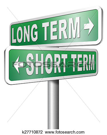 Clip Art of long or short term planning or thinking k27710872.