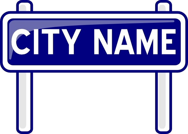 City Name Plate Road Sign Post clip art Free vector in Open office.
